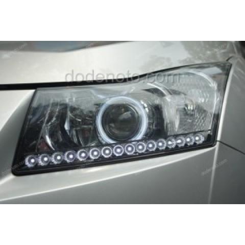 Độ đèn bi Xenon, Projector, Angel Eyes, LED mí Q-Block cho Lacetti-Cruze