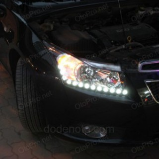 Độ dải LED mí O-block cho Lacetti-Cruze kiểu Audi R8