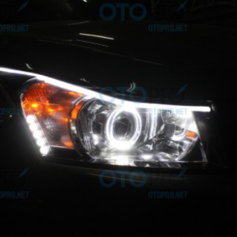 Độ đèn bi xenon, angel eyes, LED mí khối xe Lacetti/Cruze