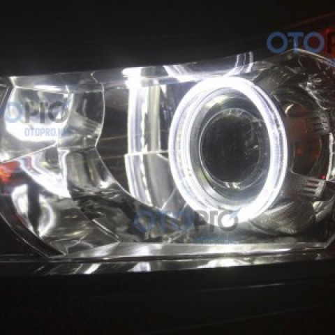 Độ đèn bi xenon, angel eyes LED BMW 2 màu cho Lacetti/Cruze