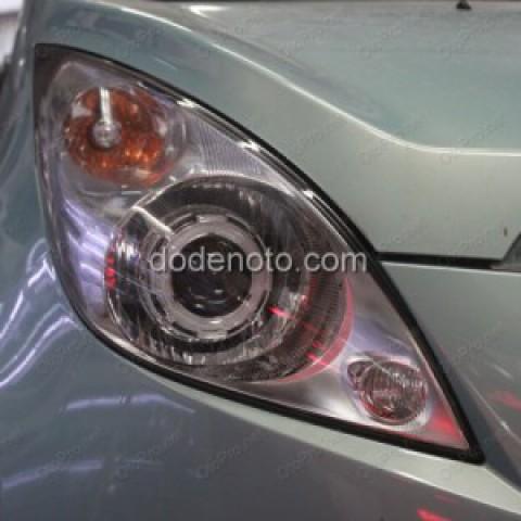 Độ đèn Bi-xenon, Angle Eyes mẫu BMW cho xe Chevrolet Spark