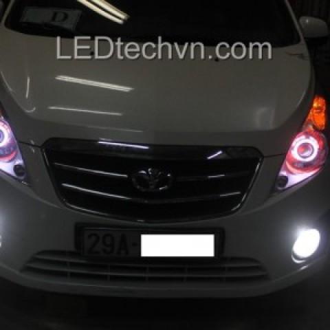 Độ đèn bi Xenon, Projector, Angel Eyes LED cho Matiz Groove