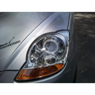 Độ đèn bi Xenon, Projector, Angel Eyes LED cho xe Matiz mẫu 2