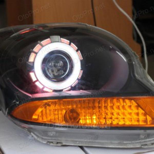 Độ đèn bi Xenon, Projector cho xe Matiz