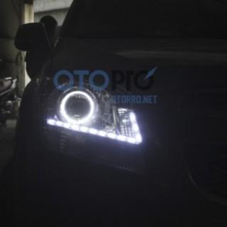 Độ đèn pha bi xenon, angel eyes, LED mí daylight xe Orlando