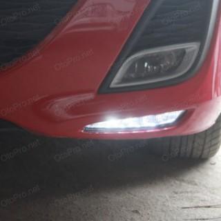 Đèn gầm độ LED nguyên bộ, daylight cho xe Mazda 3