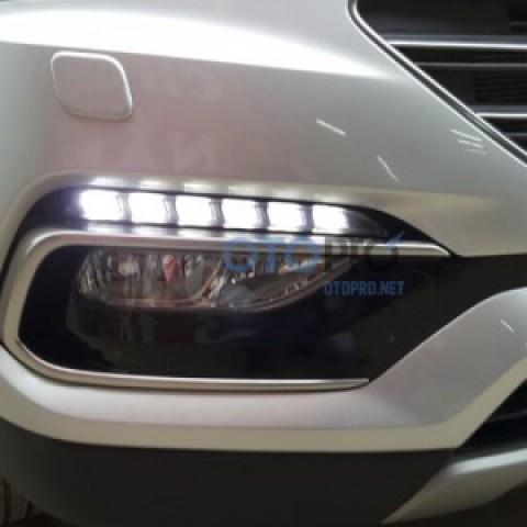 Đèn gầm LED daylight xe Santafe 2016 chính hãng Mobis