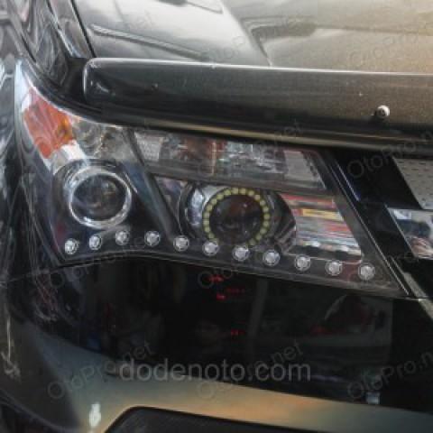 Độ dải LED mí Oblock, Angel Eyes chóa Lens cho Honda Acura