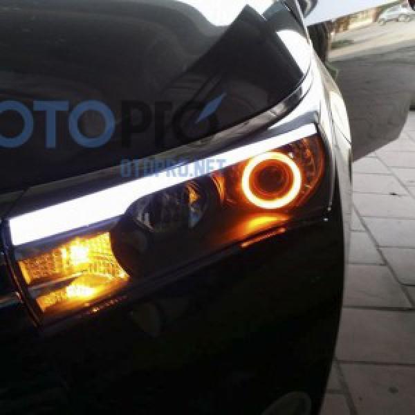 Độ bi xenon, angel eyes 2 màu, LED mí khối xe Altis 2015