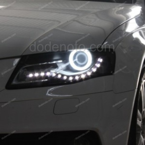 Độ vòng angel LED khối cho xe Audi A4