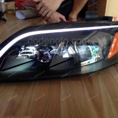 Độ dải LED mí khối cho xe Audi Q7