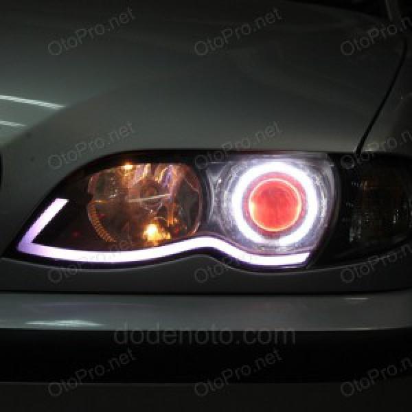 Độ bi xenon, projector, angel eyes, LED mí khối xe BMW 325i