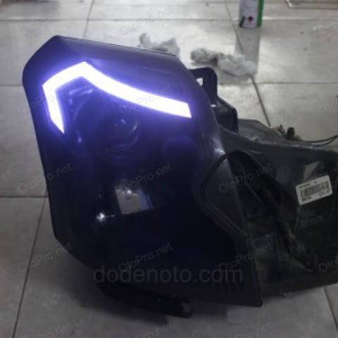 Độ dải LED mí khối cho xe Cadillac
