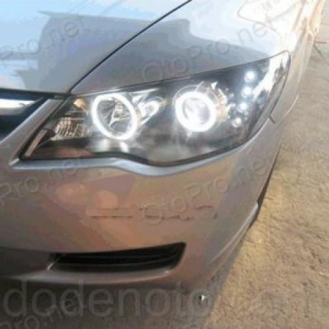 Đèn pha độ bi xenon,LED,angel eyes nguyên bộ cho Civic 2010