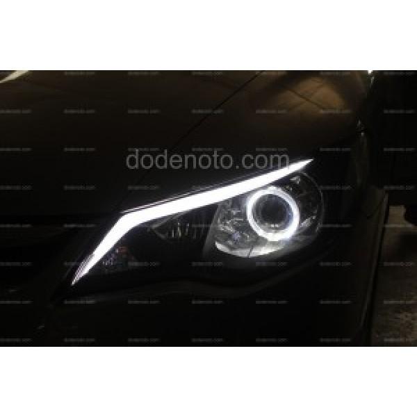 Độ đèn bi xenon, angel eyes BMW, LED mí khối cho xe Civic