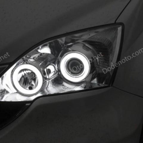 Độ vòng angel eyes LED khối cho xe Honda CR-V 2012
