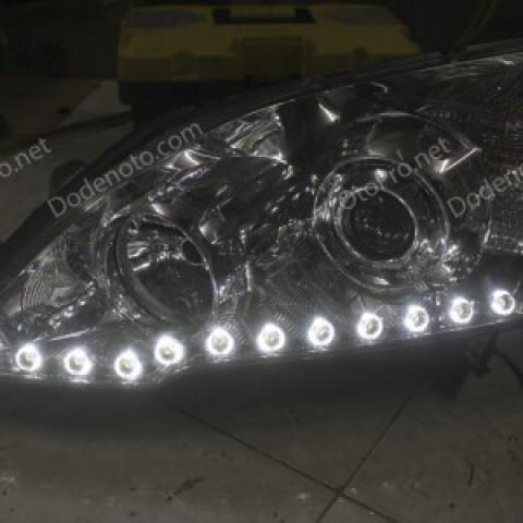 Độ đèn bi xenon, dải led mí Oblock cho xe Honda CRV 2011