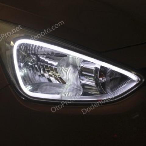 Độ dải LED mí khối trắng vàng cho xe Hyundai I10