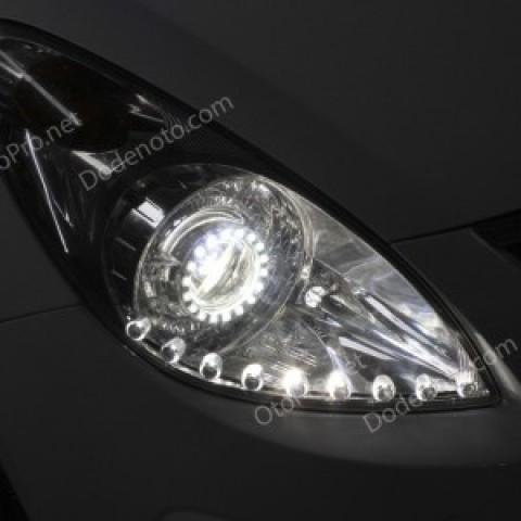 Độ đèn bi xenon, angel eyes, LED mí oblock cho Hyundai I20