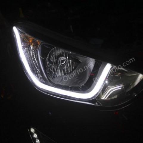 Độ dải LED mí khối trắng vàng cho xe Hyundai I20