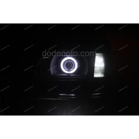 Độ đèn bi xenon, angel eyes, đèn gầm LED cho xe Kia Pride