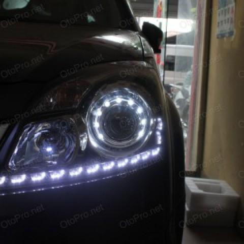 Độ đèn bi xenon, LED mí Transformer cho xe Renault Koleos