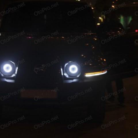 Độ đèn bi xenon, projector, xi nhan LED, daylight cho Korando