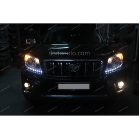 Độ dải LED mí Oblock cho xe Toyota Land Cruiser Prado