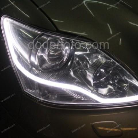 Độ dải LED mí khối trắng vàng, đèn gầm LED cho xe Lexus