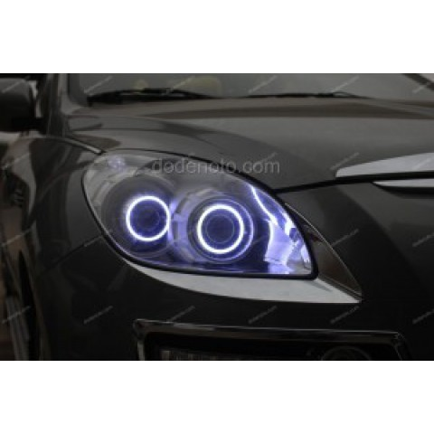 Độ bi xenon, angel eyes khối LED, daylight cho Luxgen 7 SUV