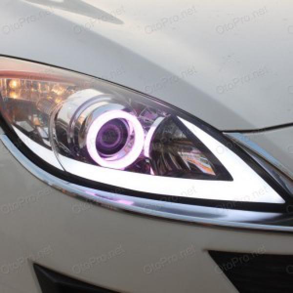 Độ vòng angel eyes, LED mí khối cho xe Mazda 3