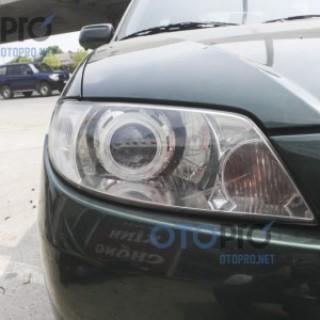 Mazda 323 độ đèn bi xenon, angel eyes LED