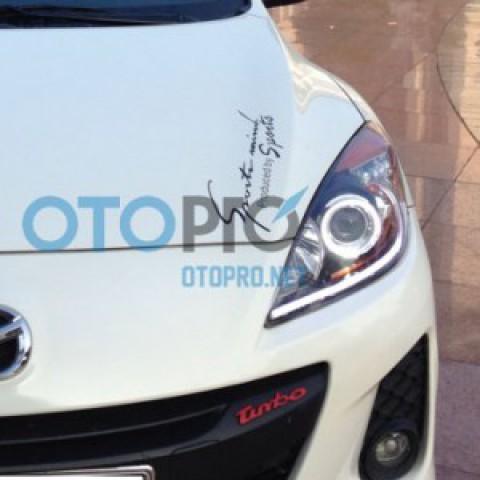Độ vòng angel eyes BMW, LED mí khối trắng vàng Mazda 3