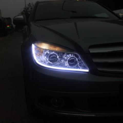 Độ đèn bi xenon, LED mí khối daylight xe Mercedes C250