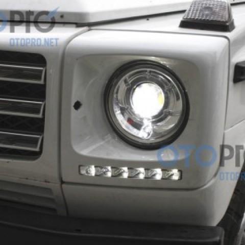Độ đèn bi xenon, LED daylight cho xe Mercedes G Class