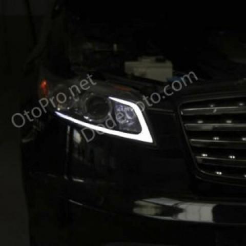 Độ đèn LED mí khối cho xe Nissan Infiniti