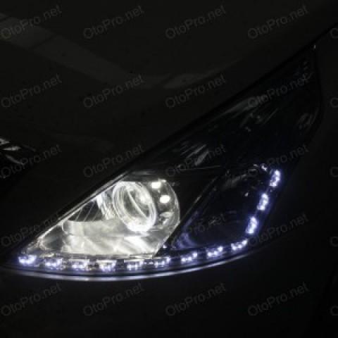 Độ bi xenon, angel eyes BMW, LED mí Transformer xe Teana