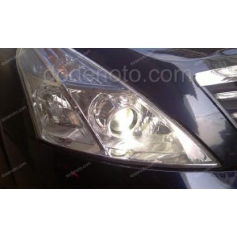 Độ đèn bi xenon, projector, đèn gầm LED cho Nissan Teana