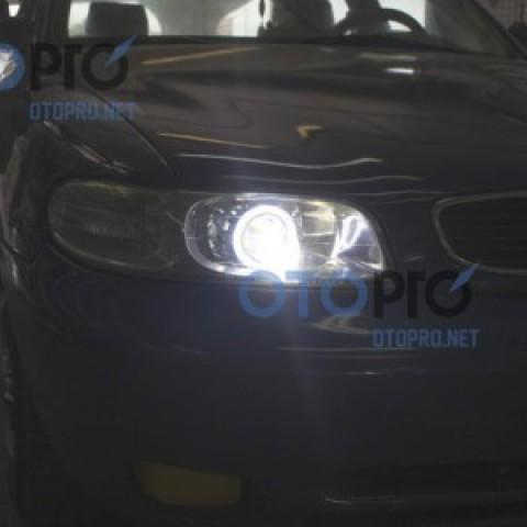 Độ đèn bi xenon, angel eyes LED cho xe Daewoo Nubira