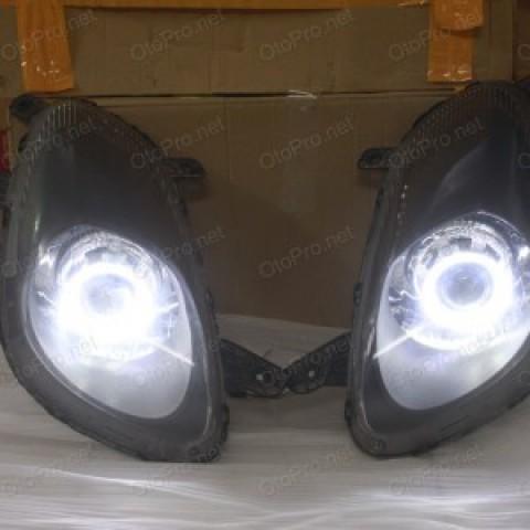 Độ đèn bi xenon, angel eyes LED kiểu BMW cho xe Pontiac