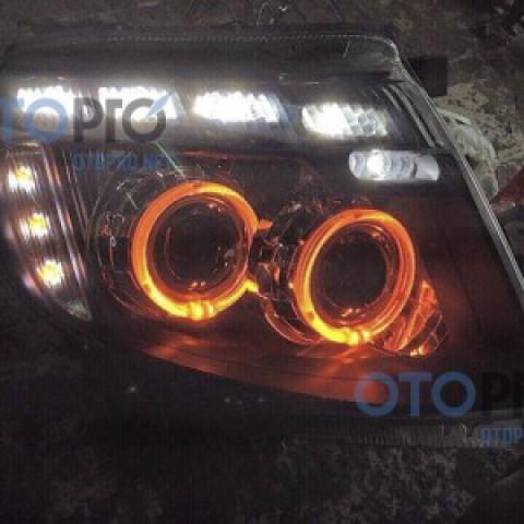 Độ đèn bi xenon, angel eyes, LED mí kiểu Audi Q5 2013-2015