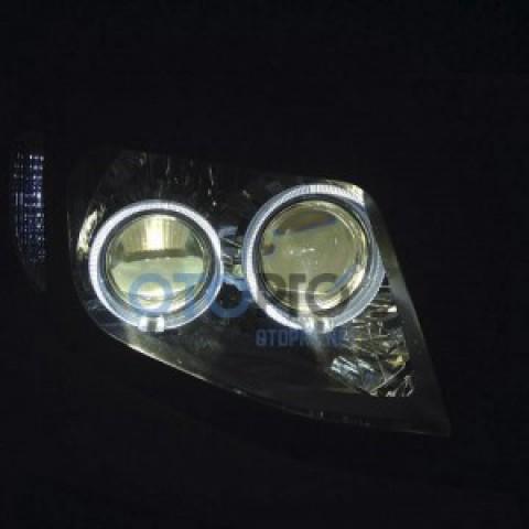 Độ đèn pha 2 bi xenon, angel eyes LED BMW xe Ford Ranger 2013-2015