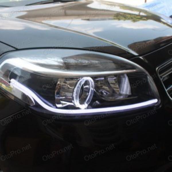 Độ LED mí khối trắng vàng, angel eyes kiểu BMW Koleos 2014
