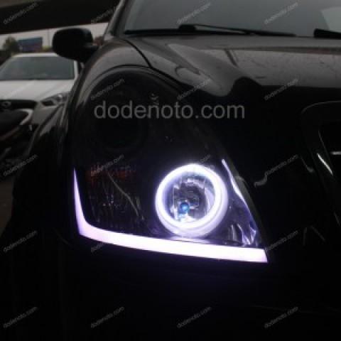 Độ vòng angel eyes BMW, LED mí khối xe SsangYong Rexton