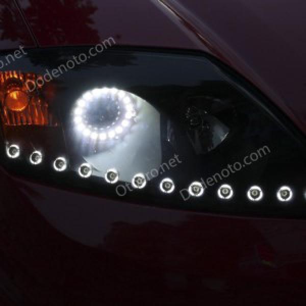 Độ mí daylight oblock, vòng angel eyes cho xe Tuscani