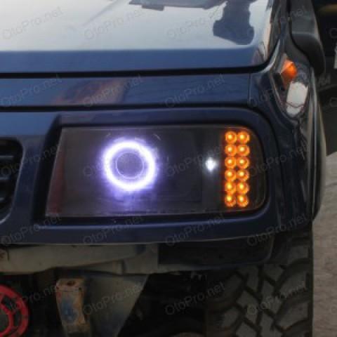 Độ đèn bi xenon, angel eyes khối, xi nhan LED Suzuki Vitara