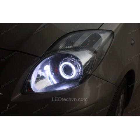 Độ đèn bi Xenon, Projector, Angle Eyes LED cho xe Toyota