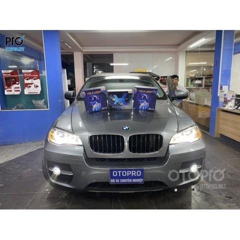 BMW X6 độ 2 bộ Bi Led Laser Henvei L91, Bi gầm Xlight F10