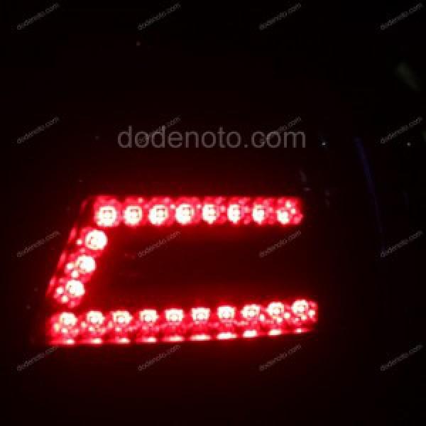 Độ đèn hậu LED Q-block cho xe Gentra