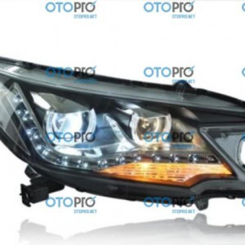 Đèn pha độ LED nguyên bộ xe Honda CRV 2012-2014 mẫu 2 bi